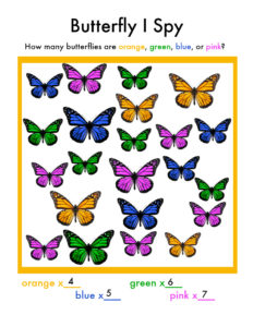 butterfly I Spy answer key