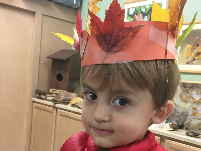 Fall leaf craft - make your own leaf crowns!