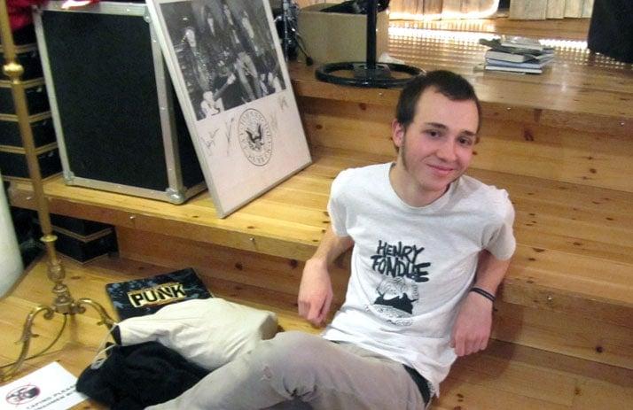 Joscha at the Ramones Museum
