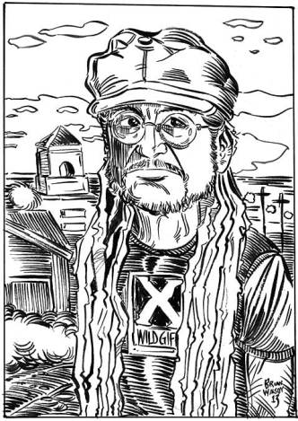 Keith Morris drawing © by Brian Walsby