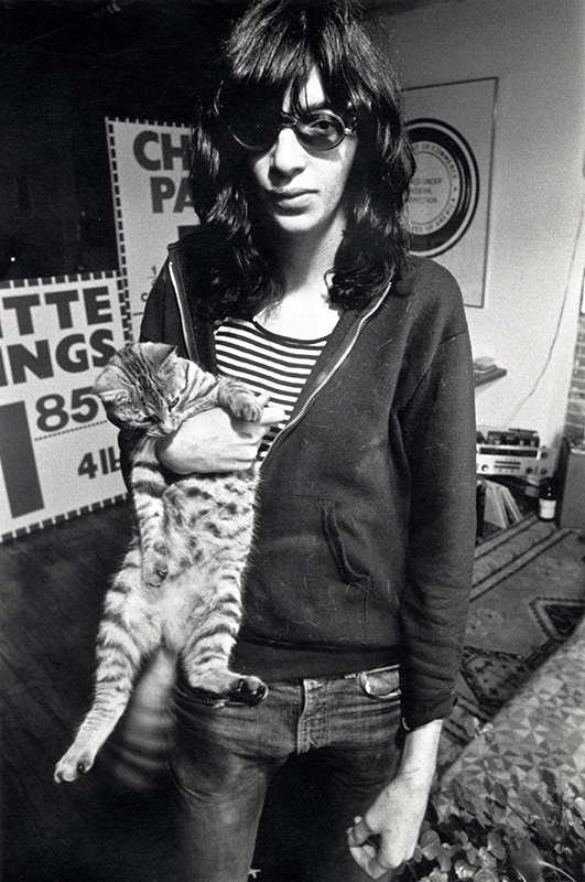Joey Ramone at Arturo Vega's loft, East Village