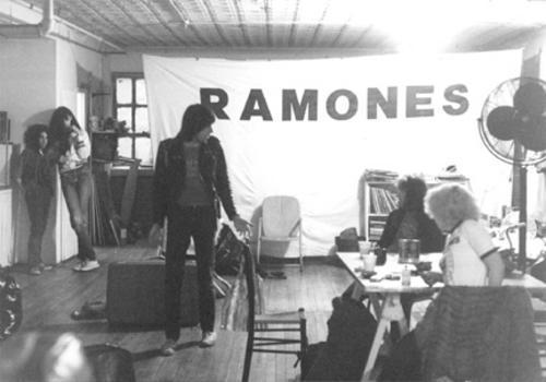 Ramones rehearsing at Arturo Vega's loft, Third street, NYC