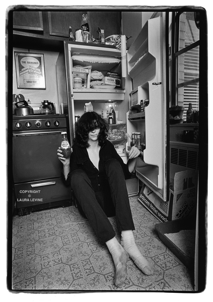 Joey Ramone in East Village apartment, 1982. Photo by Laura Levine