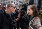 4fmhlHh ep3U9TRN6CIbsEw09KtlYvAgMk r3zBtUd8 A young Girl Scout protesting against neo Nazi march in Brno, Czech republic.