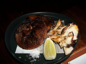 Grilled winter mushrooms, sea salt, lime