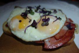 Open Faced Bologna Sandwich (1)