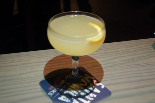 AWOL (Applejack Brandy, Orange Curacao, Pineapple Gum)