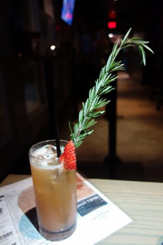 California King (Wild Turkey Bourbon, Grapefruit, Strawberry, Orgeat, Lagunitas IPA)