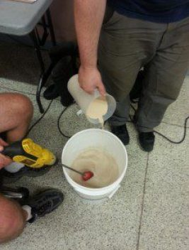 Yeast is added