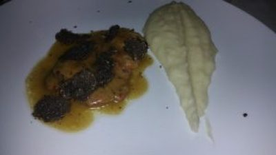 Veal with Black Truffles and Mashed Potatoes