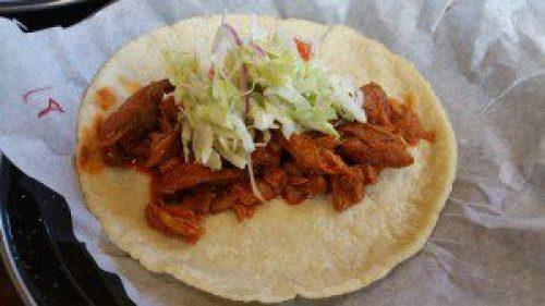Guisado Taco (slow cooked pork chop, adobo, ensaladita)