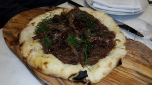 Pissaladiere Pizzetta (caramelized onions, anchovies, nicoise olives)