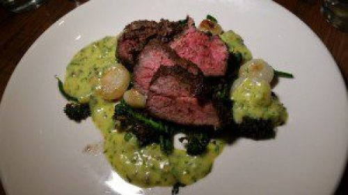 Slow grilled Wagyu tri-tip, charred broccolini, O+P Bearnaise