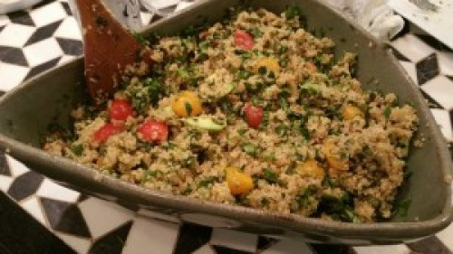 Warm Quinoa Salad with Avocado and Herbs