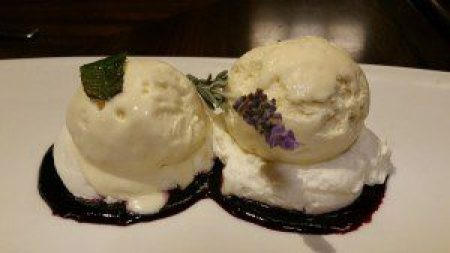 Summer Semifreddo Duo (lavender, lemon verbena, fruit compote)