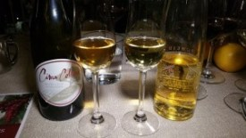 2012 Cima Collina Tondre Grapefield and 2010 Scheid Vineyard Late Harvest Rieslings