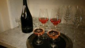 2014 Blair Rose of Pinot Noir and 2009 Caraccioli Cellars Brut Rose