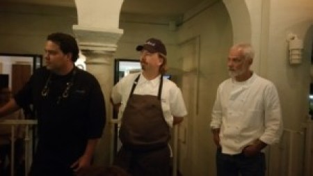 Chefs John Cox, Neal Fraser and Tim Walter