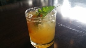 Ghost in the Garden (pear cider, cherry tomatoes, shiso, lime, agave, ghost pepper)