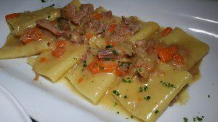 Paccheri Alla Genovese with braised veal shank ragout