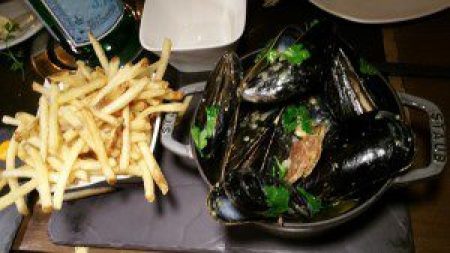 Steamed Mussels, Fennel Sausage