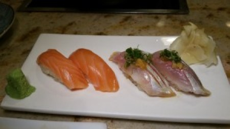 Salmon and Spanish Mackeral Sushi