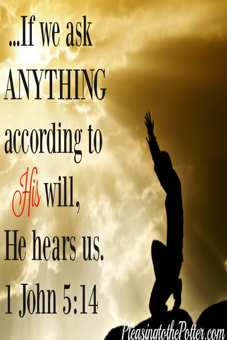 If we ask ANYTHING according to His will ,He hears us