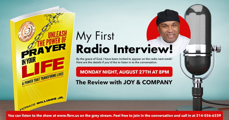Radio Interview about my Award-winning book