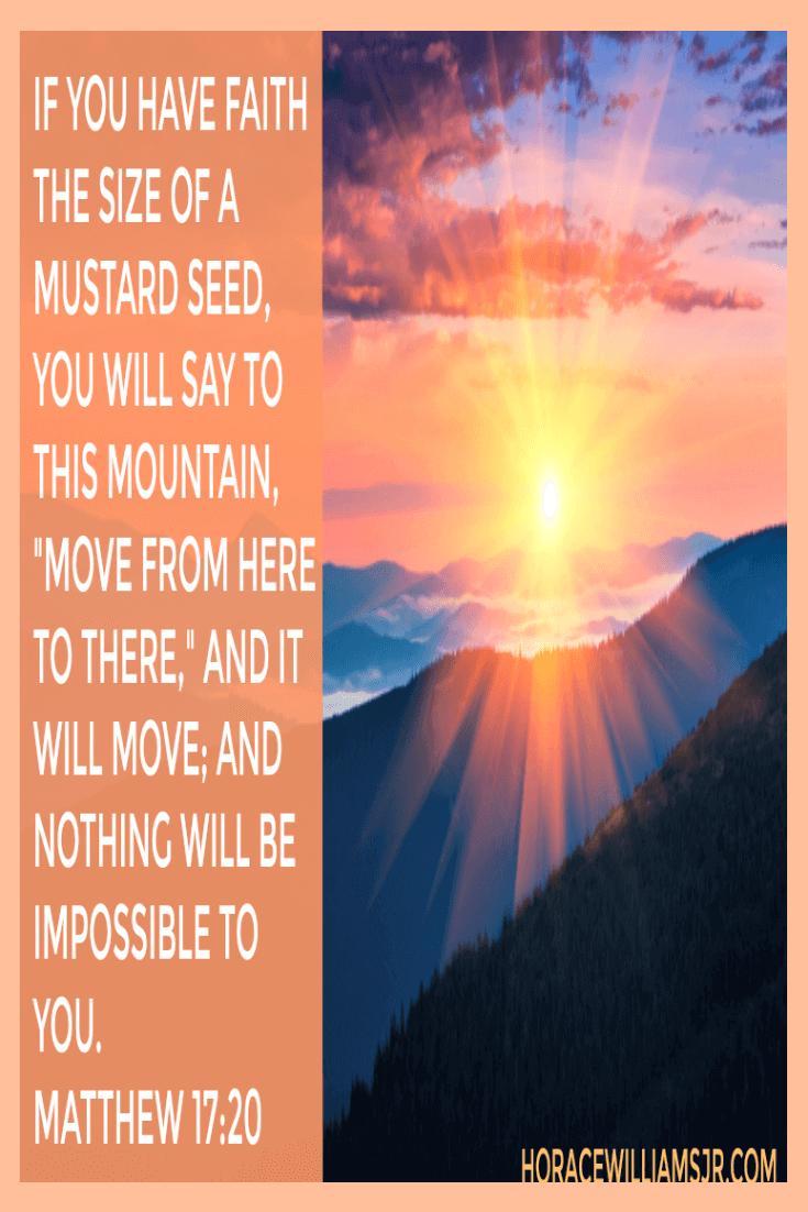 A Faith that moves Mountains