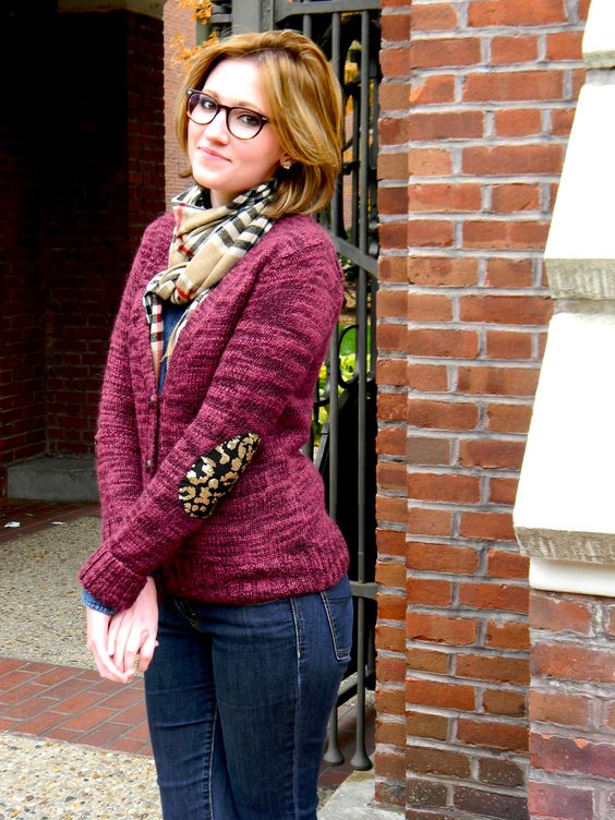 patterned patches:  an elbow patch DIY