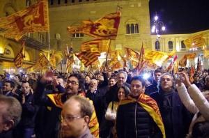 Referendum indipendenza veneto, proclamazione in piazza dei signori.