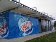Kiosk - Planenüberdachung auf der Donauinsel