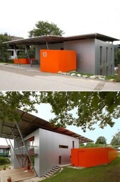 Gartenhaus und Fahrradgarage mit PVC-Einkleidung