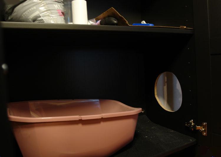 Schrank Für Katzenklo katzenklo in einem ikea schrank verstecken idee