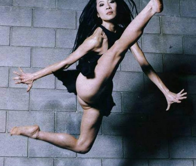 Michelle Yeoh Jumping And Kicking
