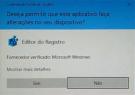 Visualizador de fotos do Windows - Editor do Registro