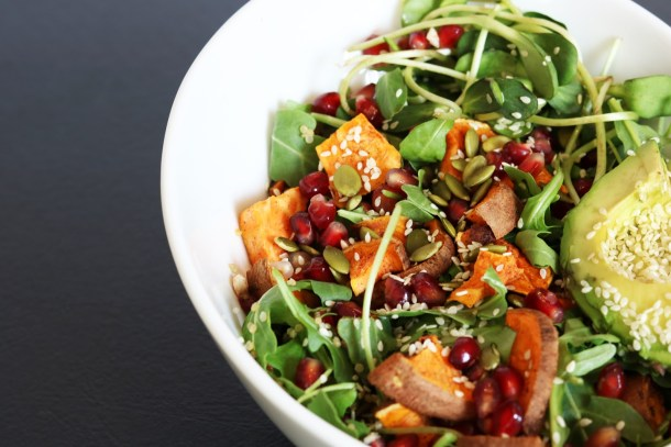 Sweet Potato Pomegranate Salad Recipe