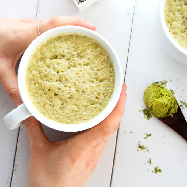 Vegan naturally sweetened matcha latte homemade