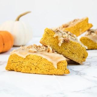 Gluten free vegan pumpkin spice scones