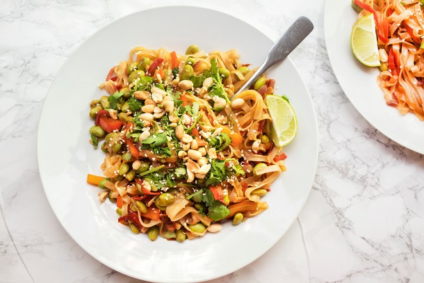 healthy homemade vegan pad thai