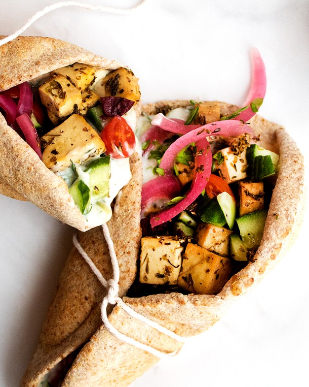 Vegan Greek Tofu Pita