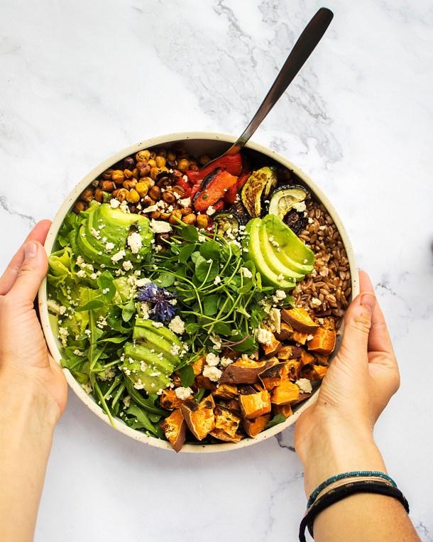 vegan buddha bowl for meal prep