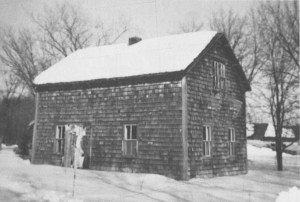 The home of the Isaac J. Loewen in the East Reserve village of Blumenort. It stood on its old site until 1937. Photo Credit: Royden Loewen, Blumenort, 69.
