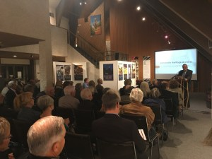 Hans Werner, the Executive Director of the Plett Foundation, represented the Centre for Transnational Mennonite Studies at the grand opening of the Mennonite Heritage Archives.