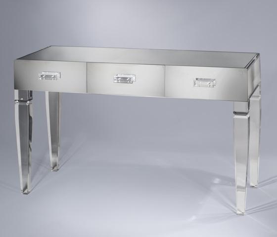 King George Vanity Table 3 Drawer Plexi Craft