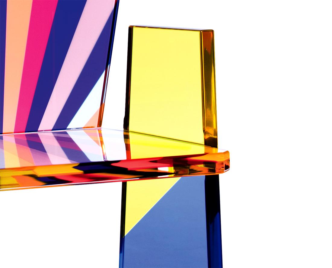 Armchair In Plexiglass Tronetto Cast Acrylic Furnishings