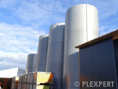 Silo in Plastic Industry