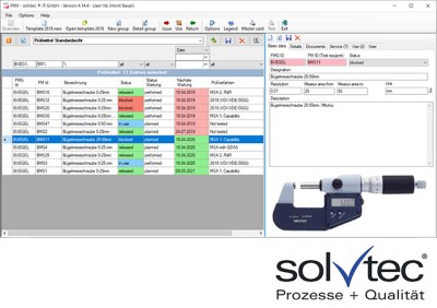 Test Equipment Administration in Plastic Industry by solvtec