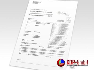 DAkkS calibration in Plastic Industry by KDP
