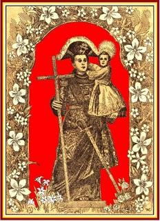 Santo Antônio com as insígnias de Capitão de Infantaria